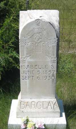 BARCLAY, ISABELLE  S. - Cherry County, Nebraska | ISABELLE  S. BARCLAY - Nebraska Gravestone Photos