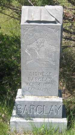 BARCLAY, SIDNEY  E. - Cherry County, Nebraska | SIDNEY  E. BARCLAY - Nebraska Gravestone Photos