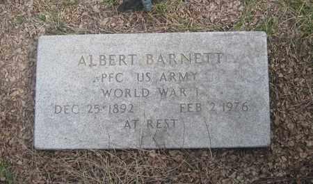 BARNETT, ALBERT - Cherry County, Nebraska   ALBERT BARNETT - Nebraska Gravestone Photos