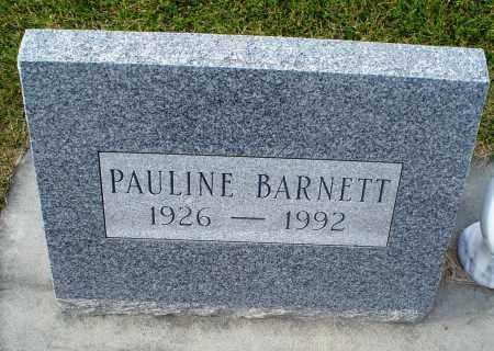 BARNETT, PAULINE - Cherry County, Nebraska | PAULINE BARNETT - Nebraska Gravestone Photos