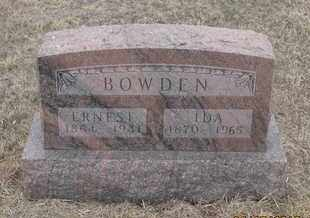 BOWDEN, IDA - Cherry County, Nebraska | IDA BOWDEN - Nebraska Gravestone Photos