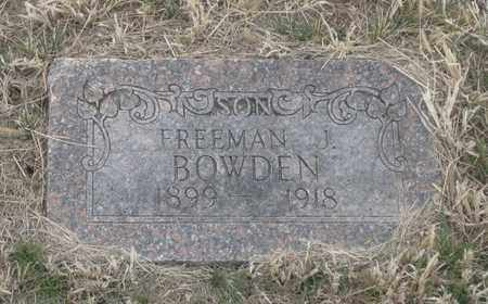 BOWDEN, FREEMAN  J. - Cherry County, Nebraska | FREEMAN  J. BOWDEN - Nebraska Gravestone Photos