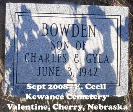 BOWDEN, SON - Cherry County, Nebraska | SON BOWDEN - Nebraska Gravestone Photos