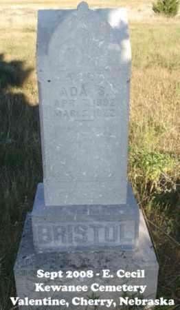 BRISTOL, ADA S. - Cherry County, Nebraska   ADA S. BRISTOL - Nebraska Gravestone Photos