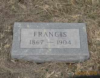 BRISTOL, FRANCIS - Cherry County, Nebraska | FRANCIS BRISTOL - Nebraska Gravestone Photos