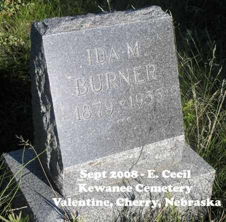 BURNER, IDA M. - Cherry County, Nebraska | IDA M. BURNER - Nebraska Gravestone Photos