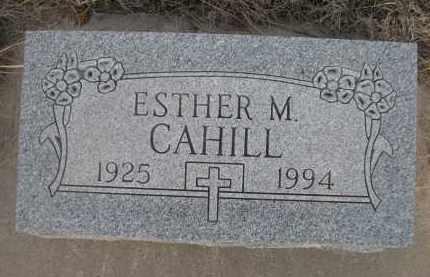 CAHILL, ESTHER M. - Cherry County, Nebraska | ESTHER M. CAHILL - Nebraska Gravestone Photos