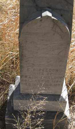 PEEDON CHALOUD, E. R. - Cherry County, Nebraska | E. R. PEEDON CHALOUD - Nebraska Gravestone Photos