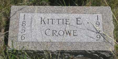 CROWE, KITTIE  E. - Cherry County, Nebraska | KITTIE  E. CROWE - Nebraska Gravestone Photos