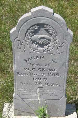 CROWE, SARAH  C. - Cherry County, Nebraska | SARAH  C. CROWE - Nebraska Gravestone Photos