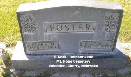 FOSTER, WALTER E. - Cherry County, Nebraska | WALTER E. FOSTER - Nebraska Gravestone Photos