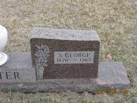 FOSTER, S. GEORGE - Cherry County, Nebraska   S. GEORGE FOSTER - Nebraska Gravestone Photos