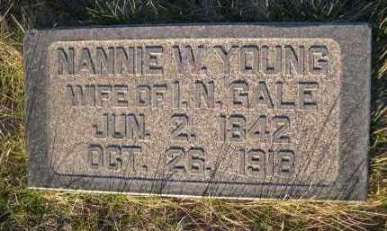 YOUNG GALE, NANNIE W. - Cherry County, Nebraska | NANNIE W. YOUNG GALE - Nebraska Gravestone Photos