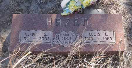 HAZEN, VERDA  G. - Cherry County, Nebraska | VERDA  G. HAZEN - Nebraska Gravestone Photos