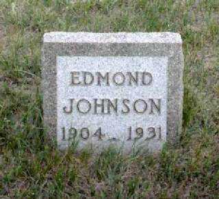 JOHNSON, EDMOND - Cherry County, Nebraska | EDMOND JOHNSON - Nebraska Gravestone Photos