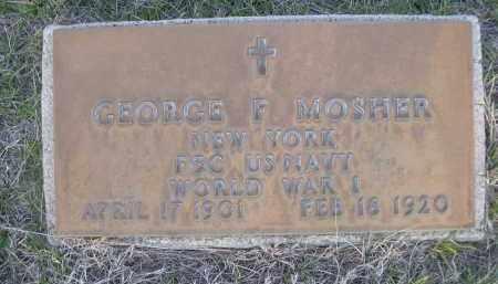 MOSHER, GEORGE F. - Cherry County, Nebraska | GEORGE F. MOSHER - Nebraska Gravestone Photos