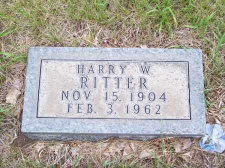 RITTER, HARRY W. - Cherry County, Nebraska   HARRY W. RITTER - Nebraska Gravestone Photos
