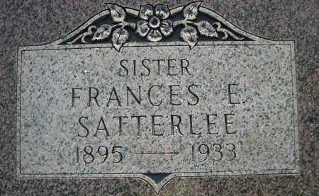 SATTERLEE, FRANCES E. - Cherry County, Nebraska | FRANCES E. SATTERLEE - Nebraska Gravestone Photos