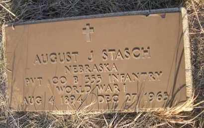 STASCH, AUGUST J. - Cherry County, Nebraska | AUGUST J. STASCH - Nebraska Gravestone Photos