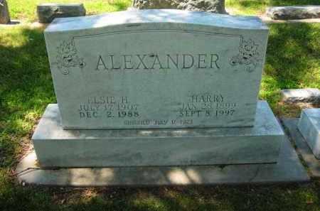 ALEXANDER, HARRY - Clay County, Nebraska | HARRY ALEXANDER - Nebraska Gravestone Photos