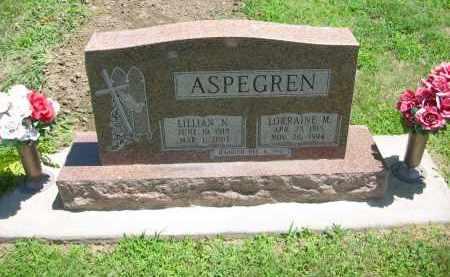 ASPEGREN, LORRAINE M. - Clay County, Nebraska | LORRAINE M. ASPEGREN - Nebraska Gravestone Photos