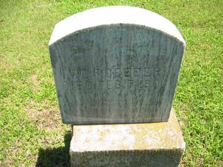 DEEDER, WM F - Clay County, Nebraska   WM F DEEDER - Nebraska Gravestone Photos