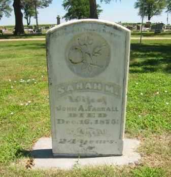 FARRALL, SARAH M - Clay County, Nebraska | SARAH M FARRALL - Nebraska Gravestone Photos