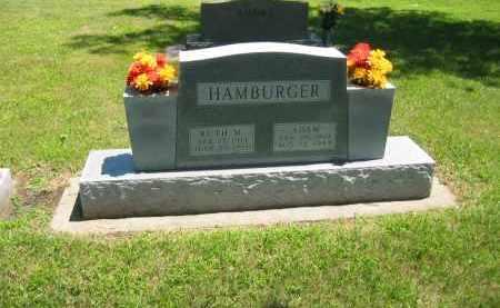HAMBURGER, RUTH M. - Clay County, Nebraska | RUTH M. HAMBURGER - Nebraska Gravestone Photos