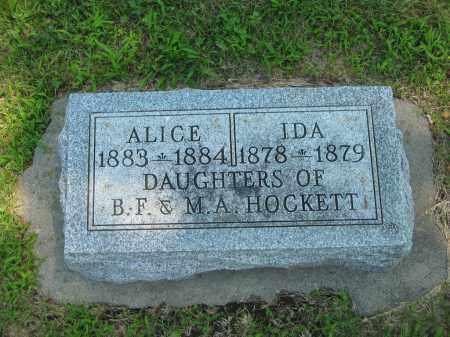 HOCKETT, ALICE - Clay County, Nebraska   ALICE HOCKETT - Nebraska Gravestone Photos