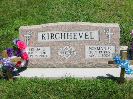 KIRCHHEVEL, FREDA B. - Clay County, Nebraska | FREDA B. KIRCHHEVEL - Nebraska Gravestone Photos