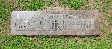 LEICHLEITER, THERESIA E - Clay County, Nebraska   THERESIA E LEICHLEITER - Nebraska Gravestone Photos