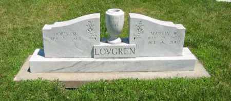 LOVGREN, MARVIN W. - Clay County, Nebraska | MARVIN W. LOVGREN - Nebraska Gravestone Photos