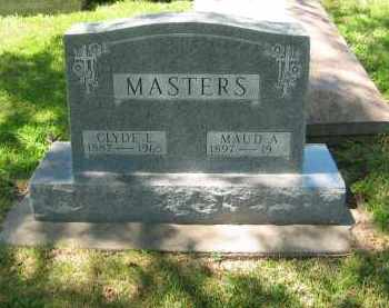 MASTERS, CLYDE E - Clay County, Nebraska | CLYDE E MASTERS - Nebraska Gravestone Photos