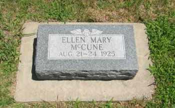 MCCUNE, ELLEN MARY - Clay County, Nebraska | ELLEN MARY MCCUNE - Nebraska Gravestone Photos
