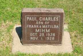MIHM, PAUL CHARLES - Clay County, Nebraska | PAUL CHARLES MIHM - Nebraska Gravestone Photos