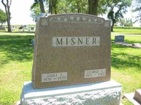 MISNER, JANET L - Clay County, Nebraska | JANET L MISNER - Nebraska Gravestone Photos