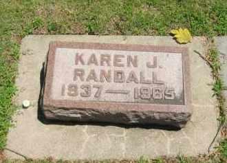 RANDALL, KAREN J - Clay County, Nebraska | KAREN J RANDALL - Nebraska Gravestone Photos