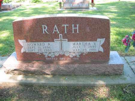 RATH, MARTHA V. - Clay County, Nebraska | MARTHA V. RATH - Nebraska Gravestone Photos
