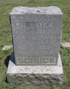 SCHUCK, HERMAN - Clay County, Nebraska | HERMAN SCHUCK - Nebraska Gravestone Photos
