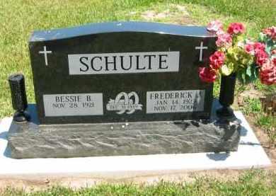 SCHULTE, FREDERICK J. - Clay County, Nebraska | FREDERICK J. SCHULTE - Nebraska Gravestone Photos
