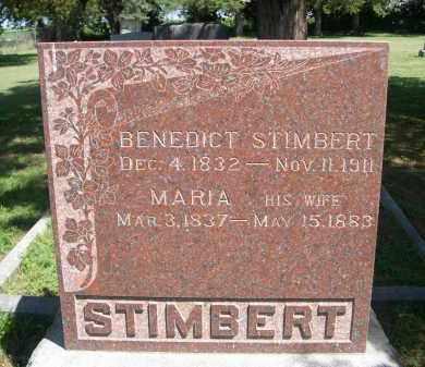 STIMBERT, BENEDICT - Clay County, Nebraska | BENEDICT STIMBERT - Nebraska Gravestone Photos