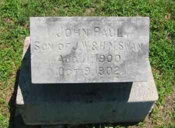 SWAN, JOHN PAUL - Clay County, Nebraska | JOHN PAUL SWAN - Nebraska Gravestone Photos