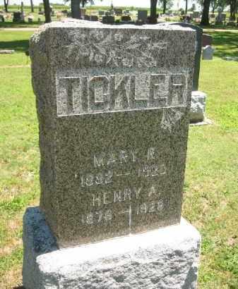 TICKLER, MARY R. - Clay County, Nebraska | MARY R. TICKLER - Nebraska Gravestone Photos