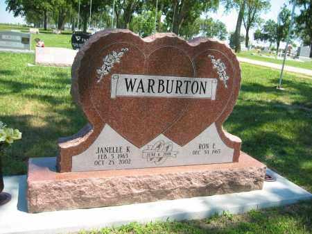 WARBURTON, RON E - Clay County, Nebraska | RON E WARBURTON - Nebraska Gravestone Photos