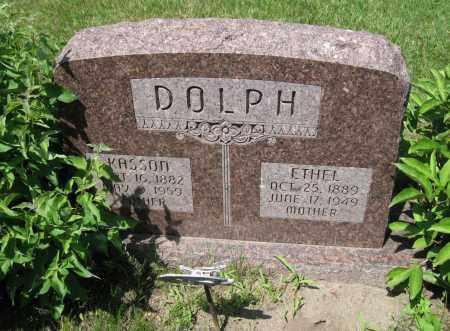 DOLPH, ETHEL - Colfax County, Nebraska | ETHEL DOLPH - Nebraska Gravestone Photos