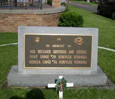 IOOF LODGEL MEMBERS, IN MEMORY OF - Colfax County, Nebraska   IN MEMORY OF IOOF LODGEL MEMBERS - Nebraska Gravestone Photos