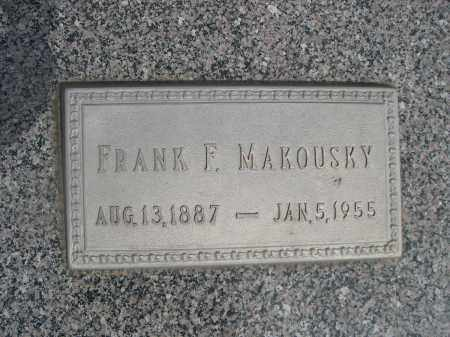 MAKOUSKY, FRANK F. - Colfax County, Nebraska | FRANK F. MAKOUSKY - Nebraska Gravestone Photos