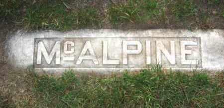 MCALPINE, FOOTSTONE - Colfax County, Nebraska | FOOTSTONE MCALPINE - Nebraska Gravestone Photos