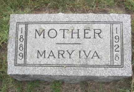 MCALPINE, MARY IVA - Colfax County, Nebraska | MARY IVA MCALPINE - Nebraska Gravestone Photos