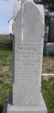 MUSIL, FRANTISEK - Colfax County, Nebraska | FRANTISEK MUSIL - Nebraska Gravestone Photos